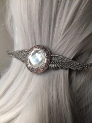 wing silver hair clip