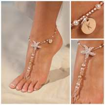 Personalized Rose Gold Jewelry Starfish Barefoot Sandals