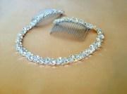 rhinestone bridal headpiece crystal
