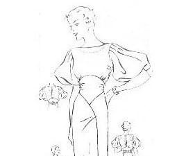 Butterick 4448 Cowl Neck Handkerchief Hem Dress by