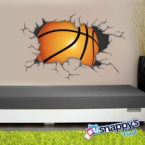 Basketball Wall Decal Breaking Bursting Shattering