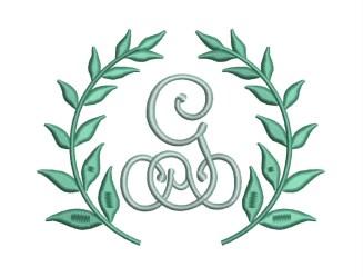 monogram leaf frame border embroidery designs machine loading instant