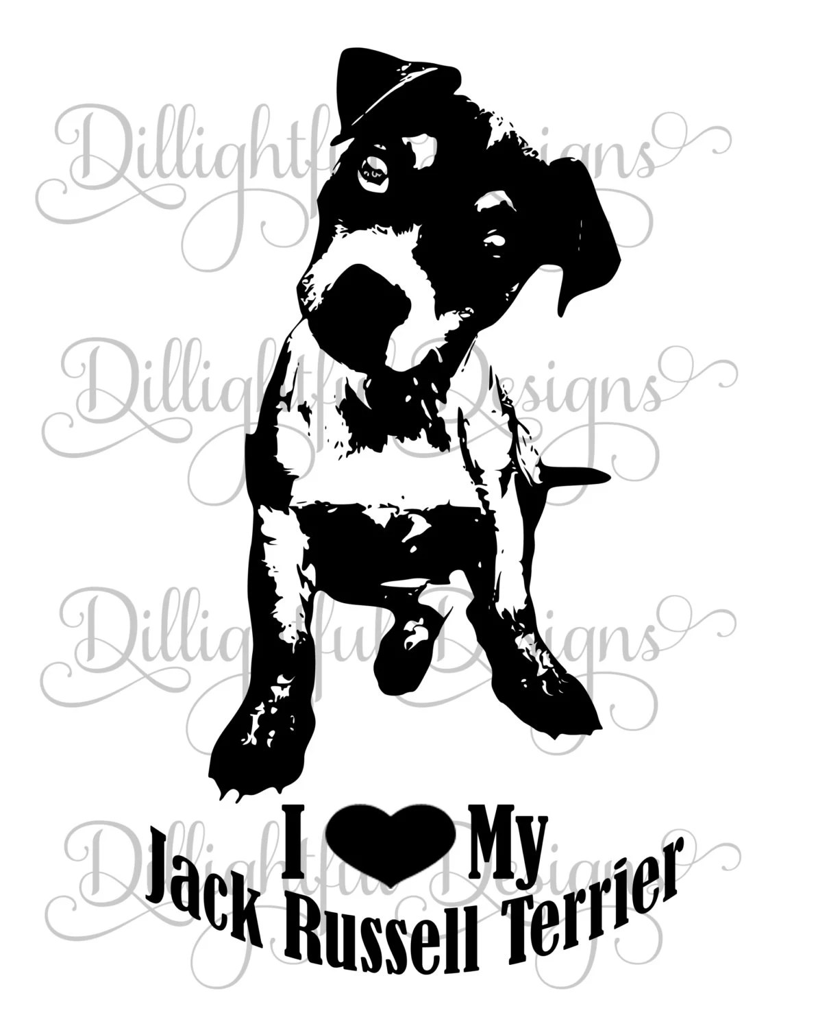 Jack Russell Terrier Svg Decal Download Sticker Sil