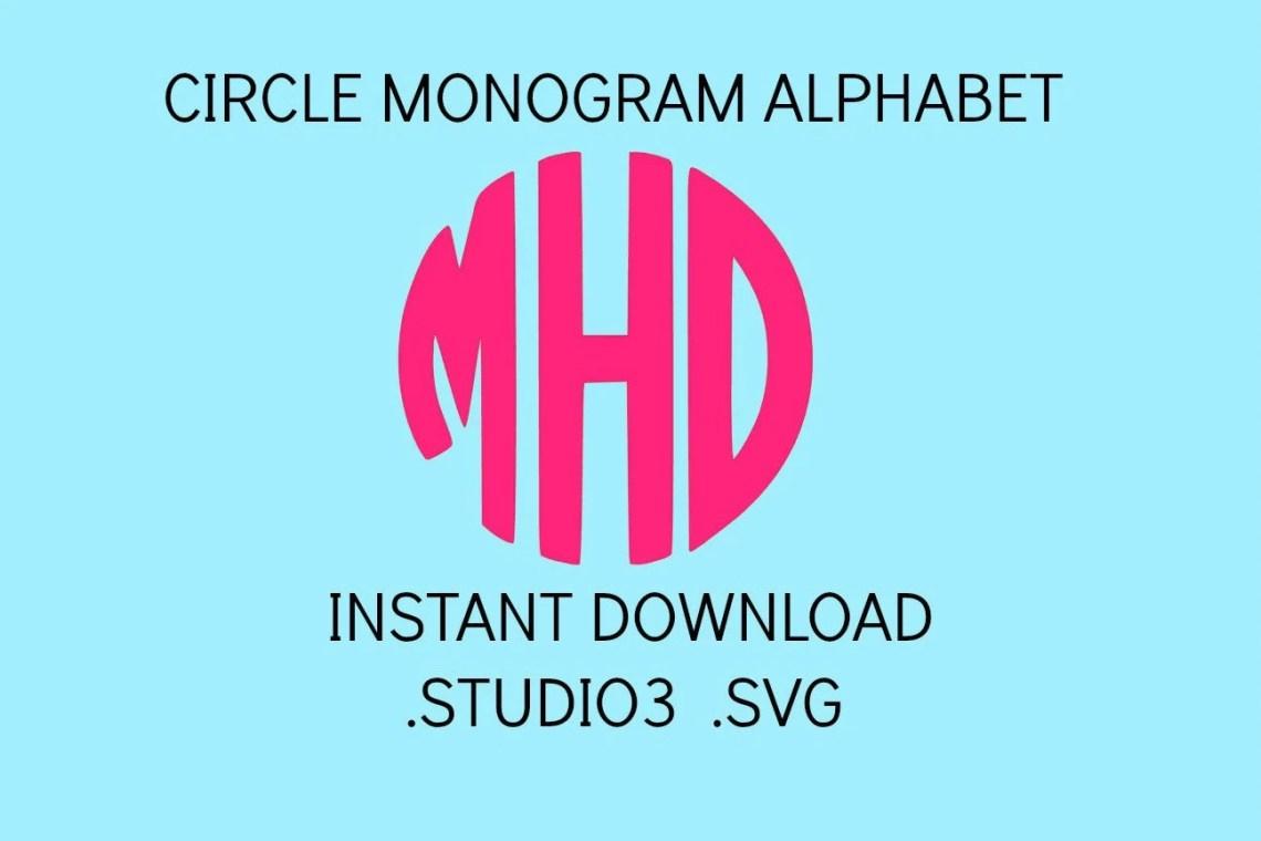Download Circle Monogram Font Svg Svg Files Svg Fonts