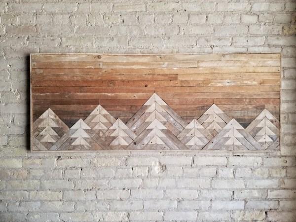 Reclaimed Wood Wall Art Decor Queen