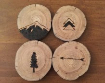 Image result for wood burning coasters