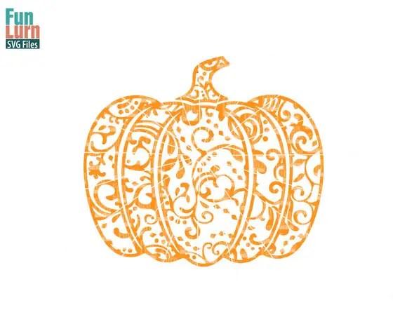 halloween svg zentangle pumpkin