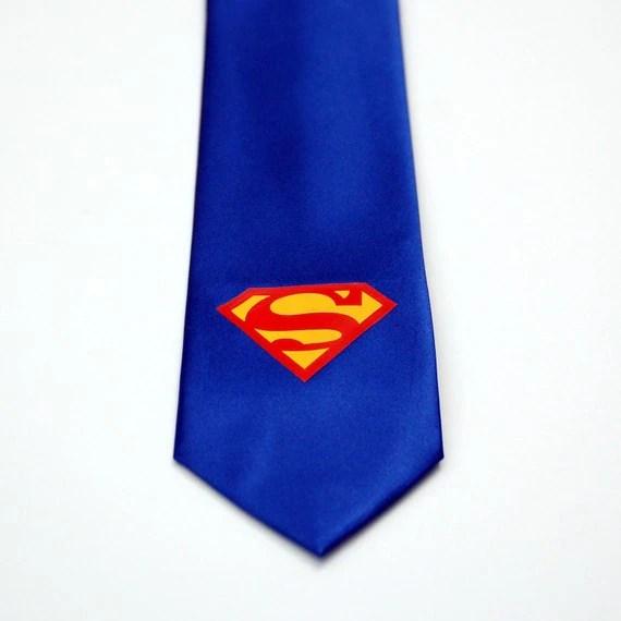 Superman men's necktie tie unisex cosplay