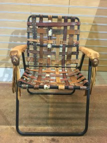 Vintage Western Tooled Belt Folding Lawn Chair Busstopshop