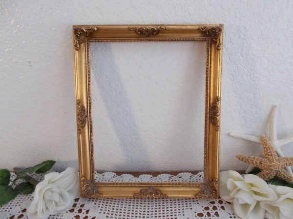 Vintage Ornate Gold Frame 8 X 10 Decoration