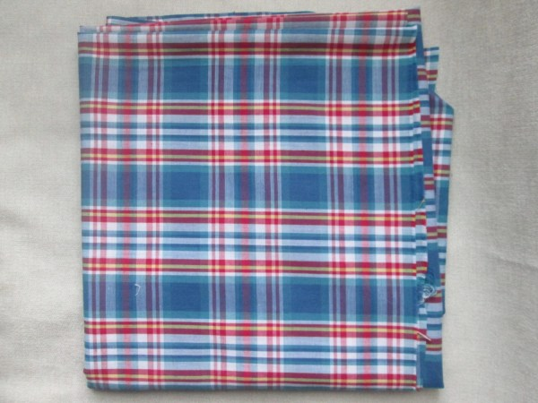 Red White and Blue Plaid Fabric