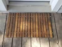 wood welcome door mat / wooden door mat / wooden Doormat