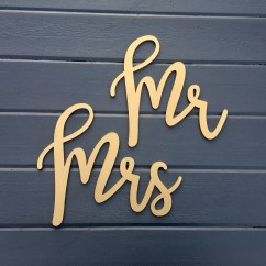 Mr And Mrs Chair Signs Ace Bayou Bean Bag Recall Laser Cut Wedding Backs Wood