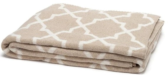 Eco Morocco Reversible Throw in Tan and Ivory