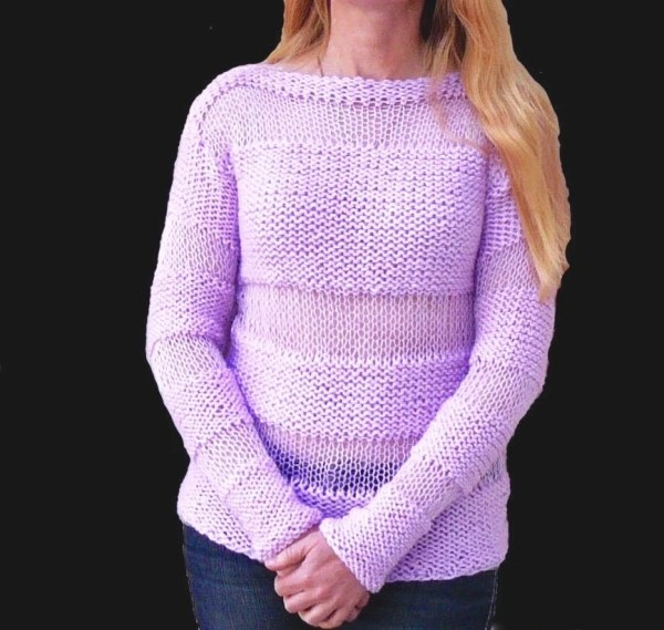 Women' Sweater.pink Sparkle Sweater.hand Knit Sweater