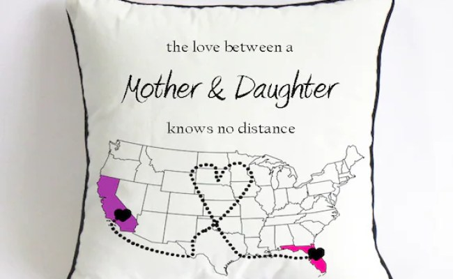 Long Distance Mom Daughter Pillowcase Mom Birthday By