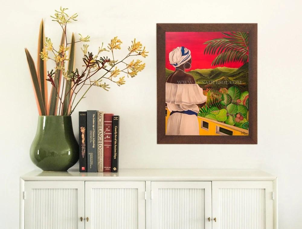 Puerto Rico Art Print Acrylic painting print Wall decor