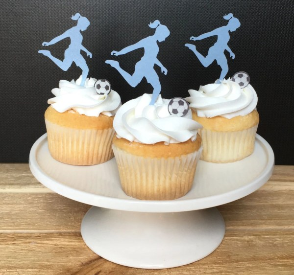 Soccer Party Thin Edible Paper Cupcake Toppers