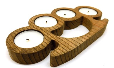 Wood Brass Knuckles Wooden Thing