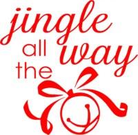 Items similar to Christmas Vinyl Decal  Jingle all the ...