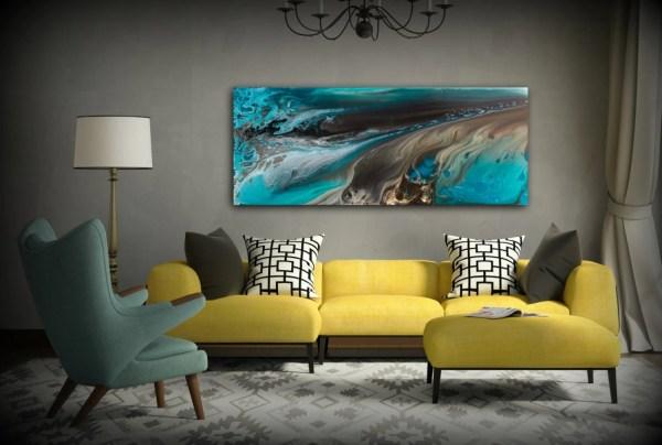 Giclee Prints Art Abstract Painting Coastal Home Decor Modern