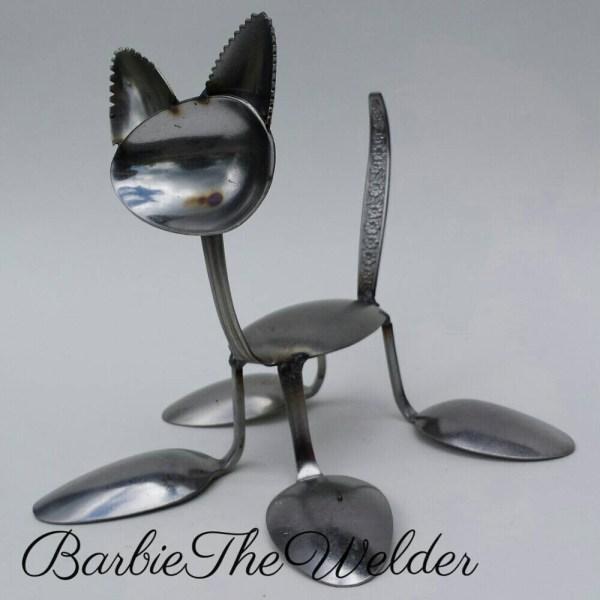 Silverware Metal Art Sculptures