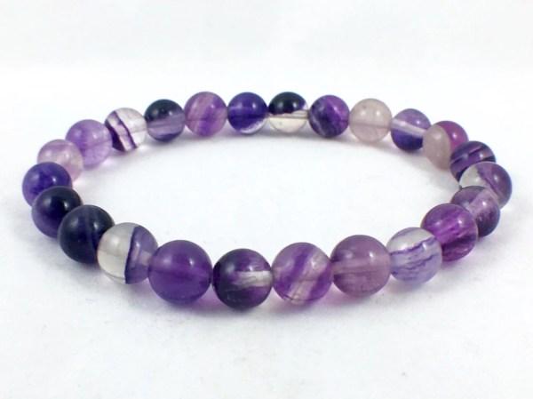 Purple Fluorite Bracelet Healing Crystal Jewelry Energy