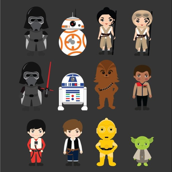 Star Wars - Clipart Printable Instant
