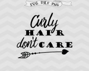 curly hair svg don't care arrow