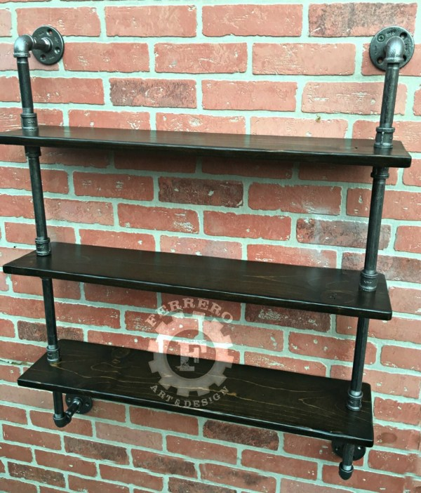 Pipe Shelf Steampunk Furniture Wall Shelves Industrial