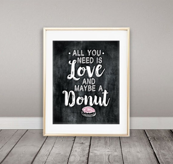 Download Instant Download All you need is Love and maybe a Donut Wall