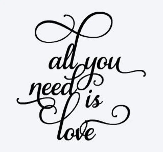 Download All you need is love SVG file by SundersenCreations on Etsy