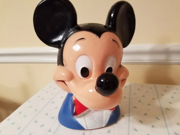 Vintage Mickey Mouse Bank Piggy