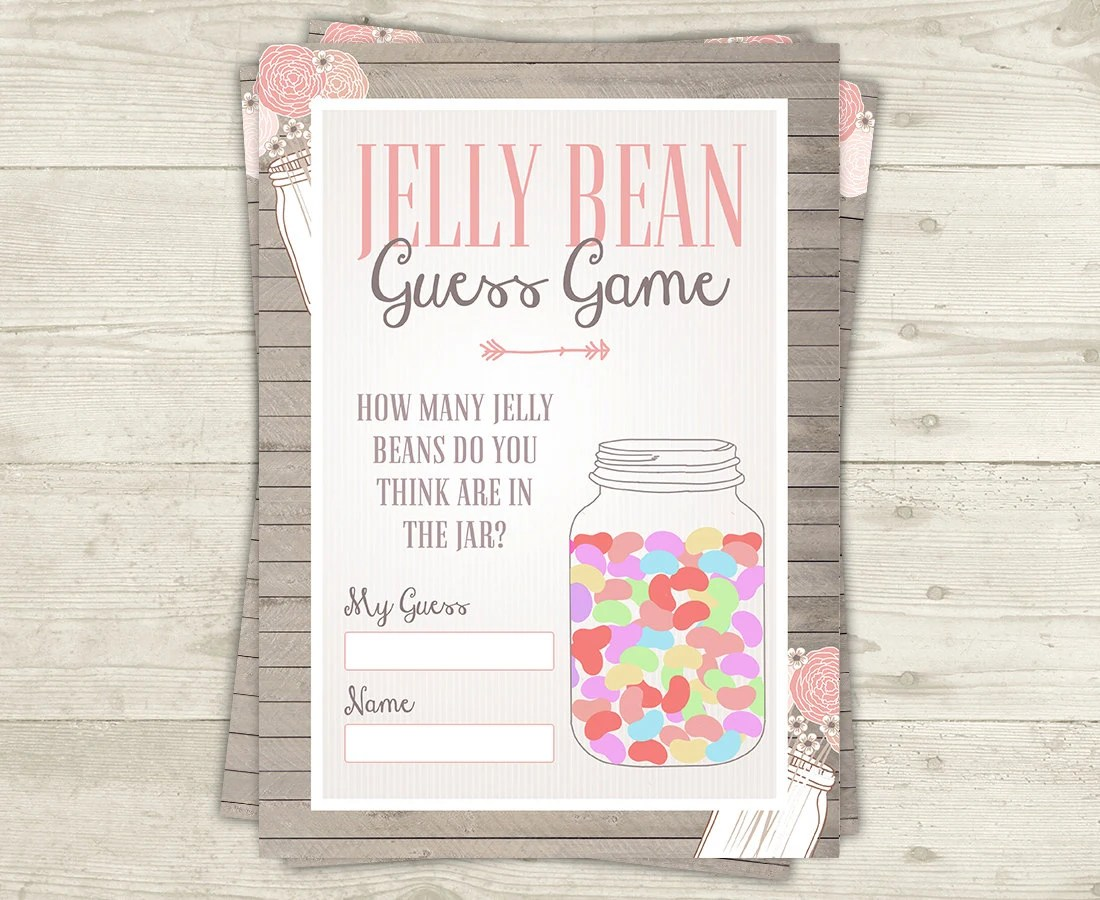 Jelly Bean Guess Games Baby Shower Games Printable Candy