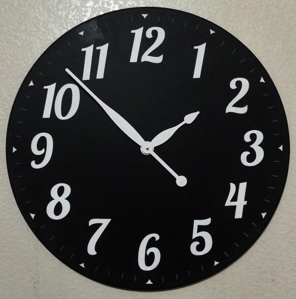 Black Chalkboard Clock