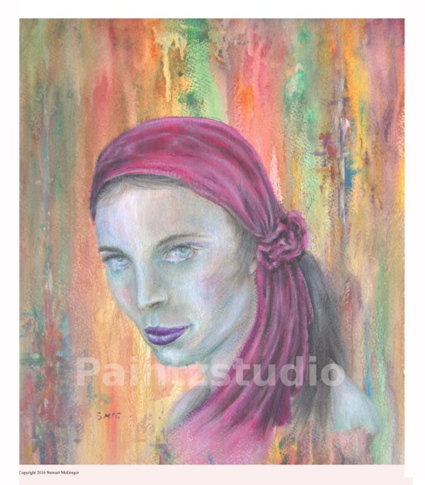 Woman Painting Print Water Colour Gypsy Wall Art Girl