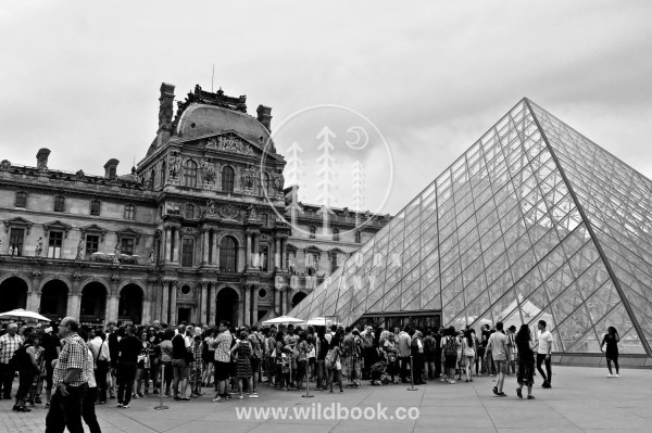 Louvre Paris Black And White Wildbookcompany