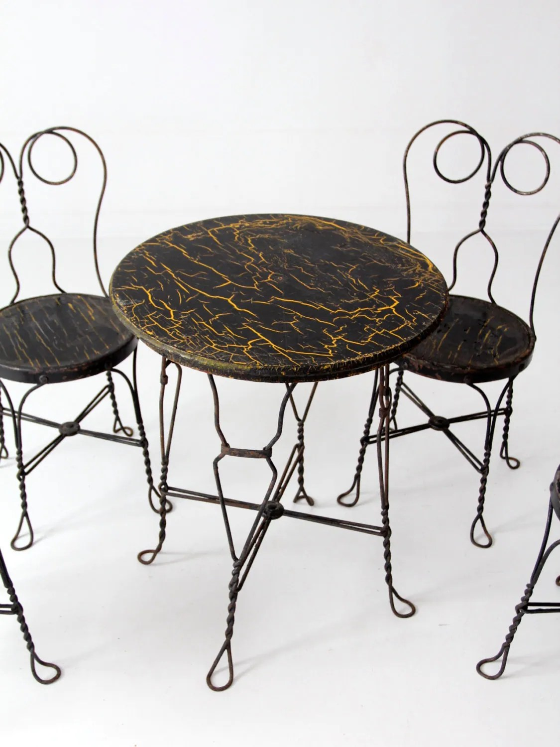 Ice Cream Table And Chairs Ice Cream Parlor Table And Chairs Vintage Black Cafe Table