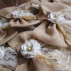 Burlap Bows For Wedding Chairs Amish Made Adirondack From Ohio Large Chair Pew Aisle Rustic By