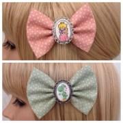 princess peach yoshi hair bow clip