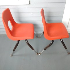 Artco Bell Chairs White Table And Vintage Kids Shell Stacking
