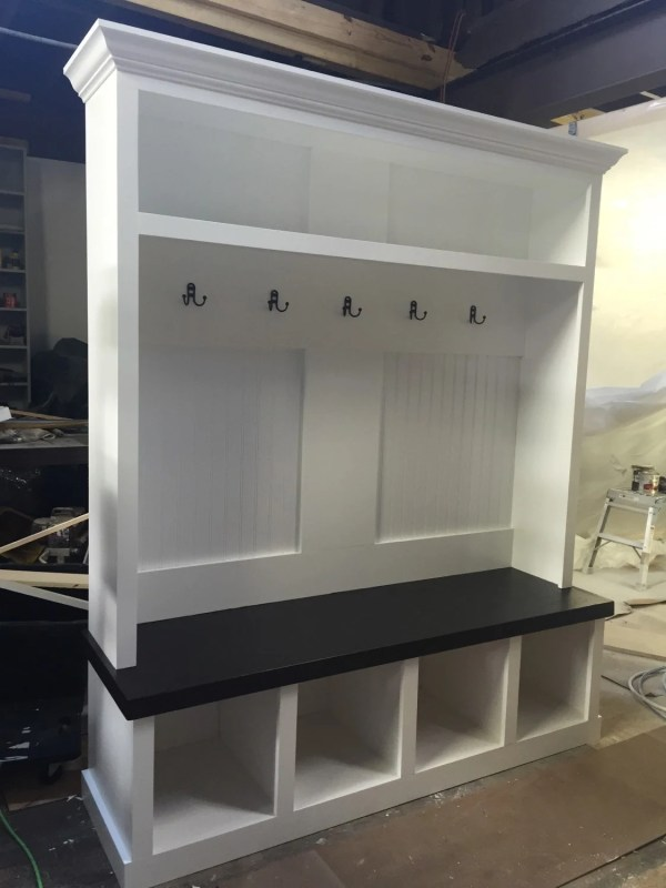 Mud Room Lockers with Bench Storage