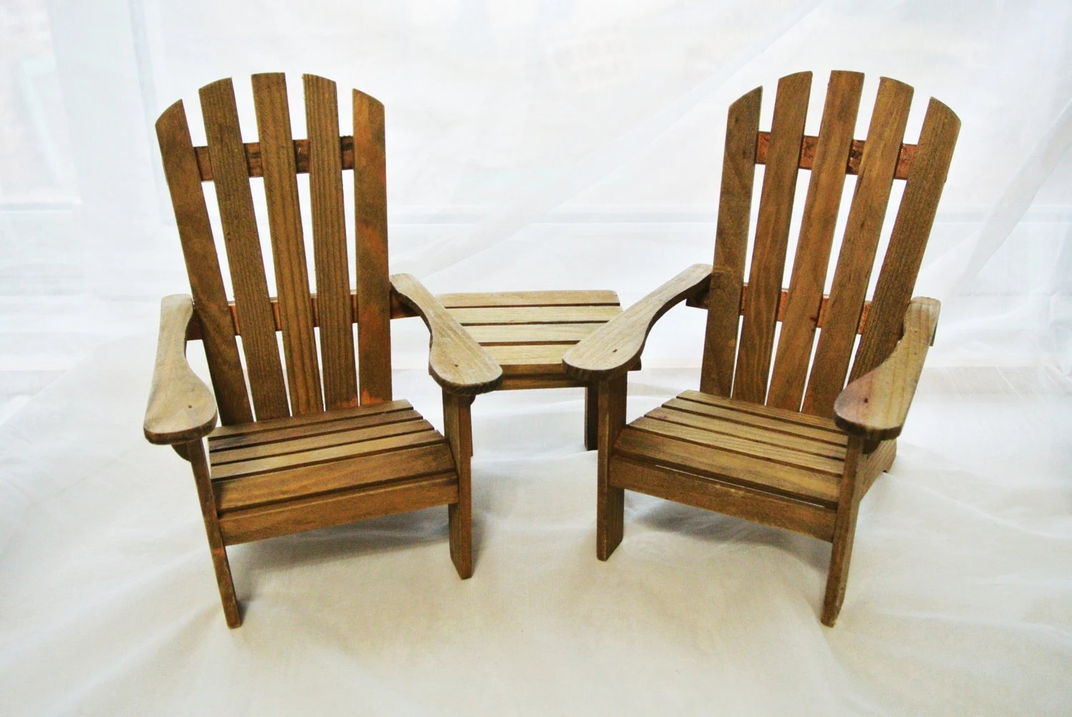 Mini Adirondack Chairs Miniature Adirondack Chairs And Table