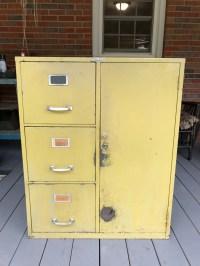 Vintage Cole Steel Metal File Cabinet Combination Safe