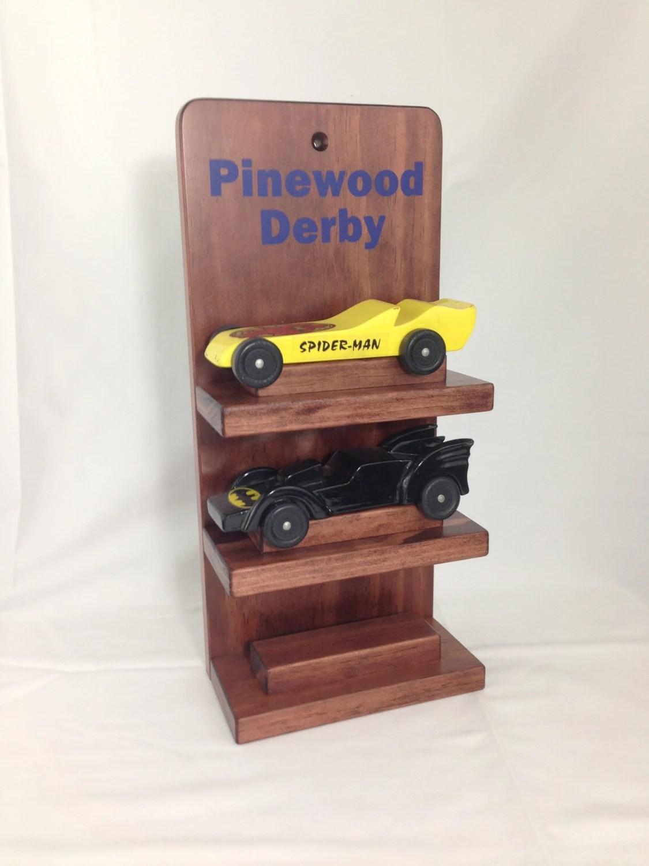 Pinewood Derby Car Three Shelf Display Cubscouts Awana