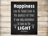 PRINTABLE ART Harry Potter Wall Art Dumbledore Quote Happiness