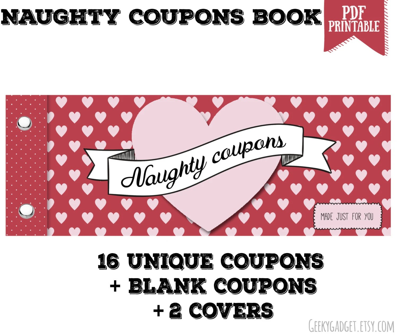 Naughty Coupon Book 16 Printable Coupons For Boyfriend