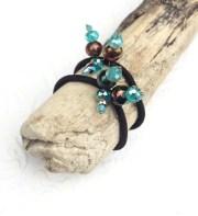 aqua blue ponytail holders elastic