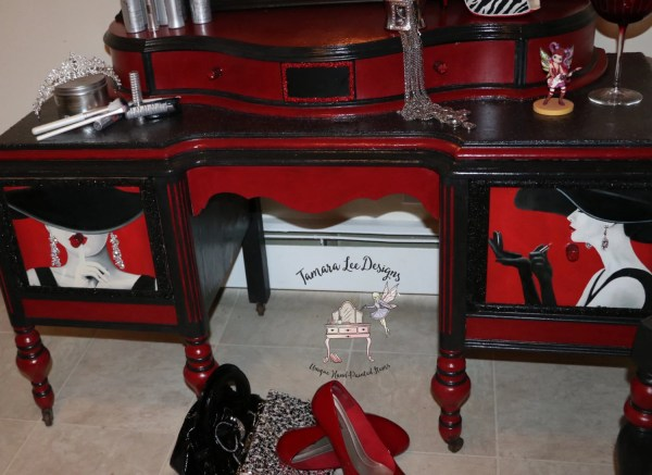 Vintage Vanity Set Hollywood Glam Custom