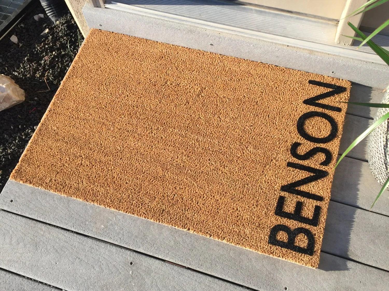 Personalized door mat Welcome Mat 'Benson' Style
